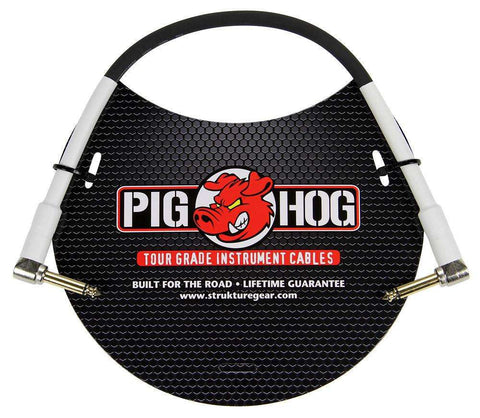 "Pig Hog 1ft 1/4"" Right Angle - 1/4"" Right Angle Inst. Cable,Accessories,Kentucky Hot Brown Pedalboards,Kentucky Hot Brown Pedalboards, LLC"