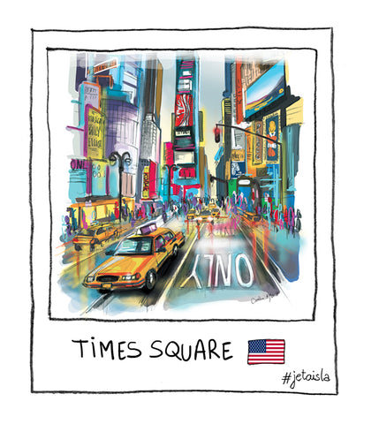 New york times square i was here j'etais la