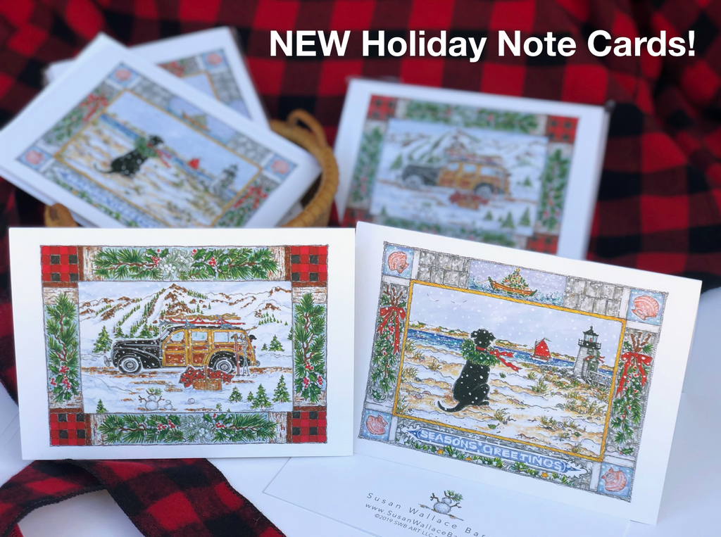 Introducing the ALL NEW Holiday Note Cards from Susan Wallace Barnes!