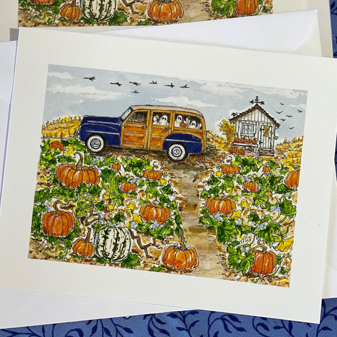 OCTOBER 2020 4x5 Postcards with Envelopes - SET OF 10