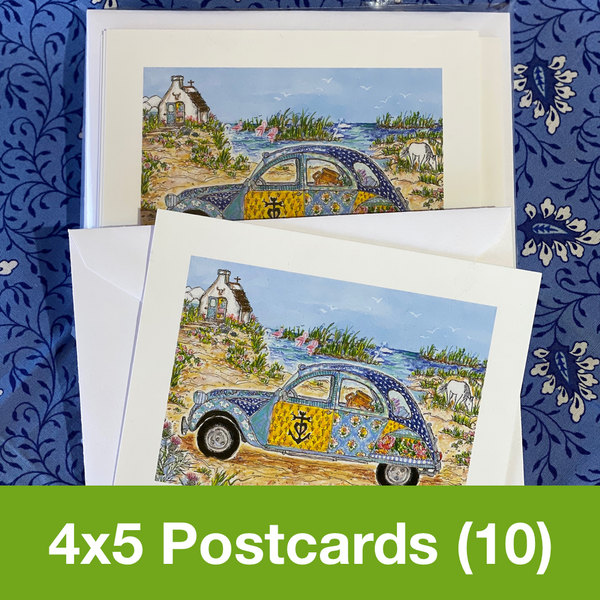 JANUARY 2020 4x5 Postcards with Envelopes - SET OF 10