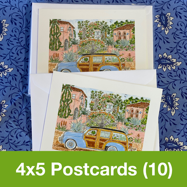 FEBRUARY 2020 4x5 Postcards with Envelopes - SET OF 10