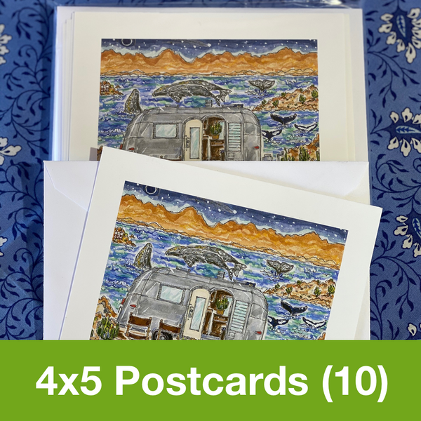 MARCH 2020 4x5 Postcards with Envelopes - SET OF 10