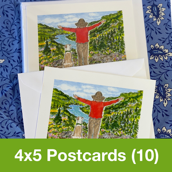 MAY 2020 4x5 Postcards with Envelopes - SET OF 10