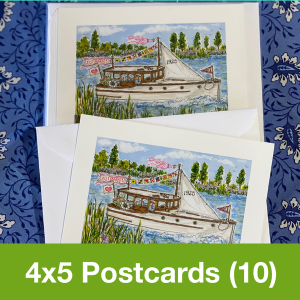 JUNE 2020 4x5 Postcards with Envelopes - SET OF 10