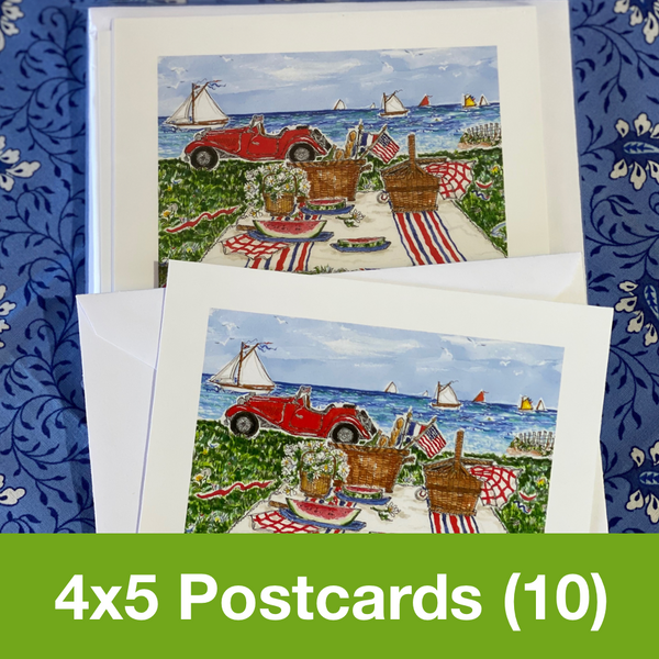 JULY 2020 4x5 Postcards with Envelopes - SET OF 10