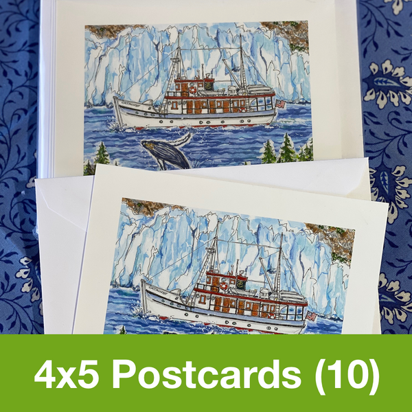 AUGUST 2020 4x5 Postcards with Envelopes - SET OF 10