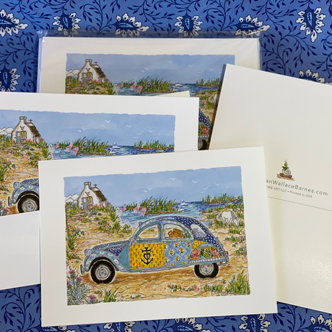 CAMARGUE CAR 5x7 Postcards with Envelopes - SET OF 10