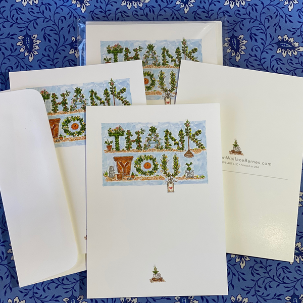 THANK YOU GARDEN 5x7 Postcards with Envelopes - SET OF 10