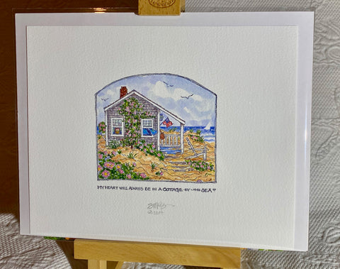"""Cottage-by-the-Sea"" Signed Giclée 2014"