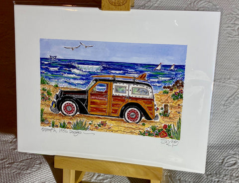 """Lifeguard Woodie"" Signed Giclée 2013"