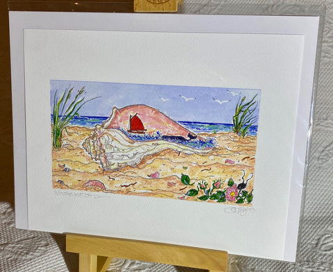 """Nantucket Island Whale Watch"" Signed Giclée 2013"