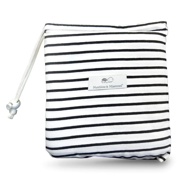 "3-in-1 Car Seat, Shopping Cart & Nursing Cover Free Carry Pouch Included ""The Pinstripe"""