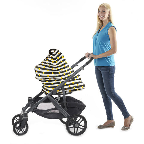 "3-in-1 Car Seat, Shopping Cart & Nursing Cover Free Carry Pouch Included ""Oh So Kate"""