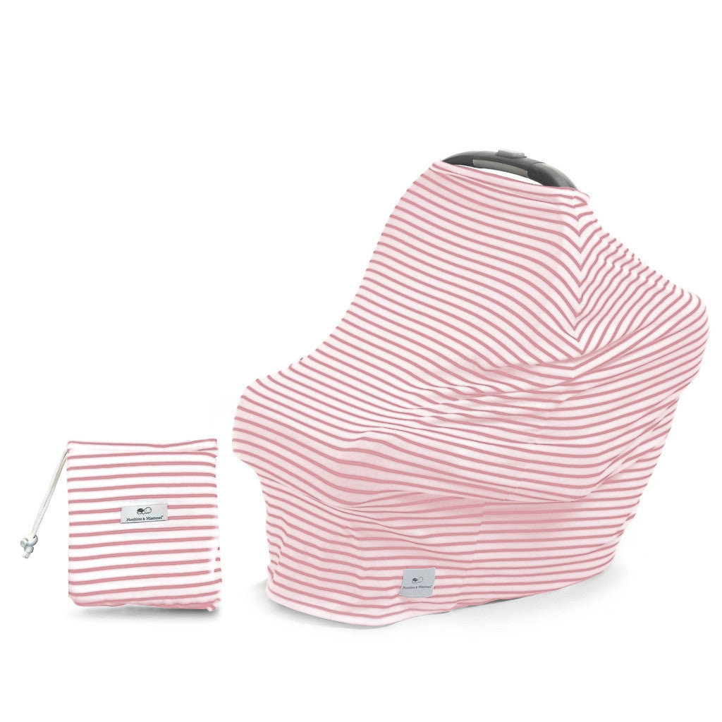 "3-in-1 Car Seat, Shopping Cart & Nursing Cover Free Carry Pouch Included ""Pretty in Pink"""