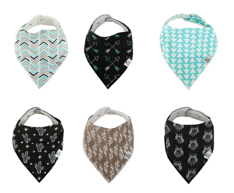 Trendy Tot Plus Bibs - Pack of 6
