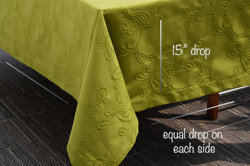 mode living easycare tablecloth cartagena lime color corner shot