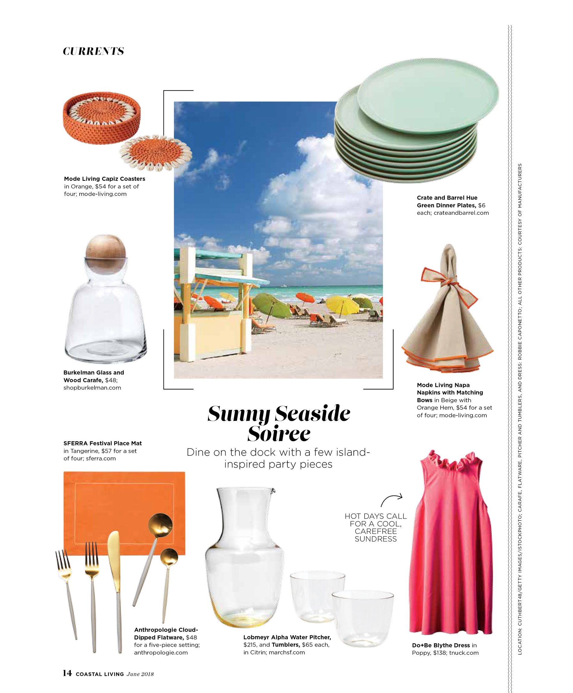 Coastal Living Magazine Featuring Mode Living