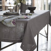 Mode Living easycare Lima tablecloth gray hemstitched
