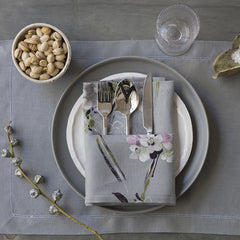 Mode Living Amsterdam placemats gray with hemstitch