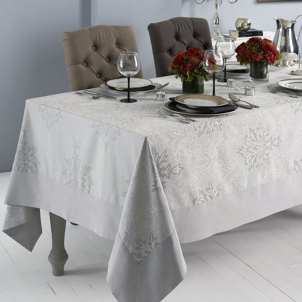 Mode Living stain resistant gray Aspen tablecloth