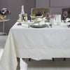 Mode Living stain resistant white Aspen tablecloth