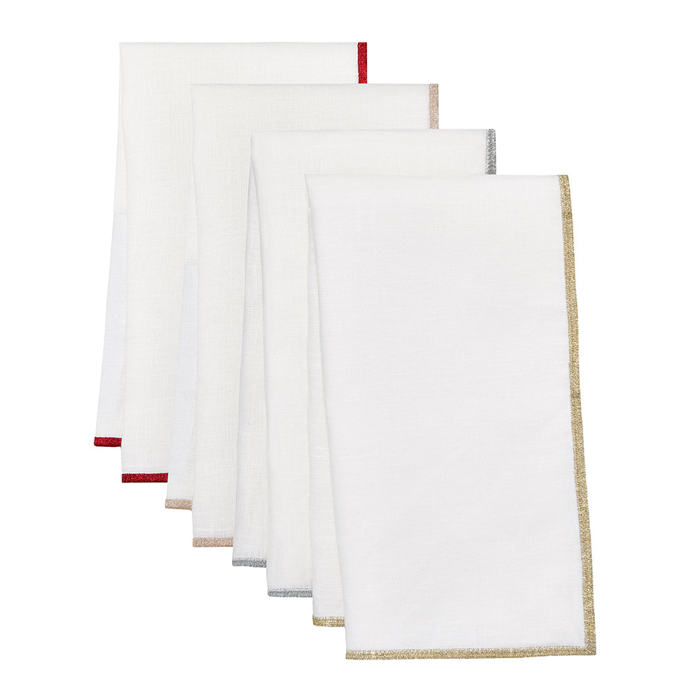 Bel Air Napkins Metallic, S/4