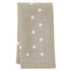 Mode Living easycare linen Belle napkins beige with polka dots
