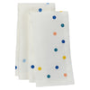 Belle napkins- Easycare, pure linen, colorful polka dots, fun dinner decor