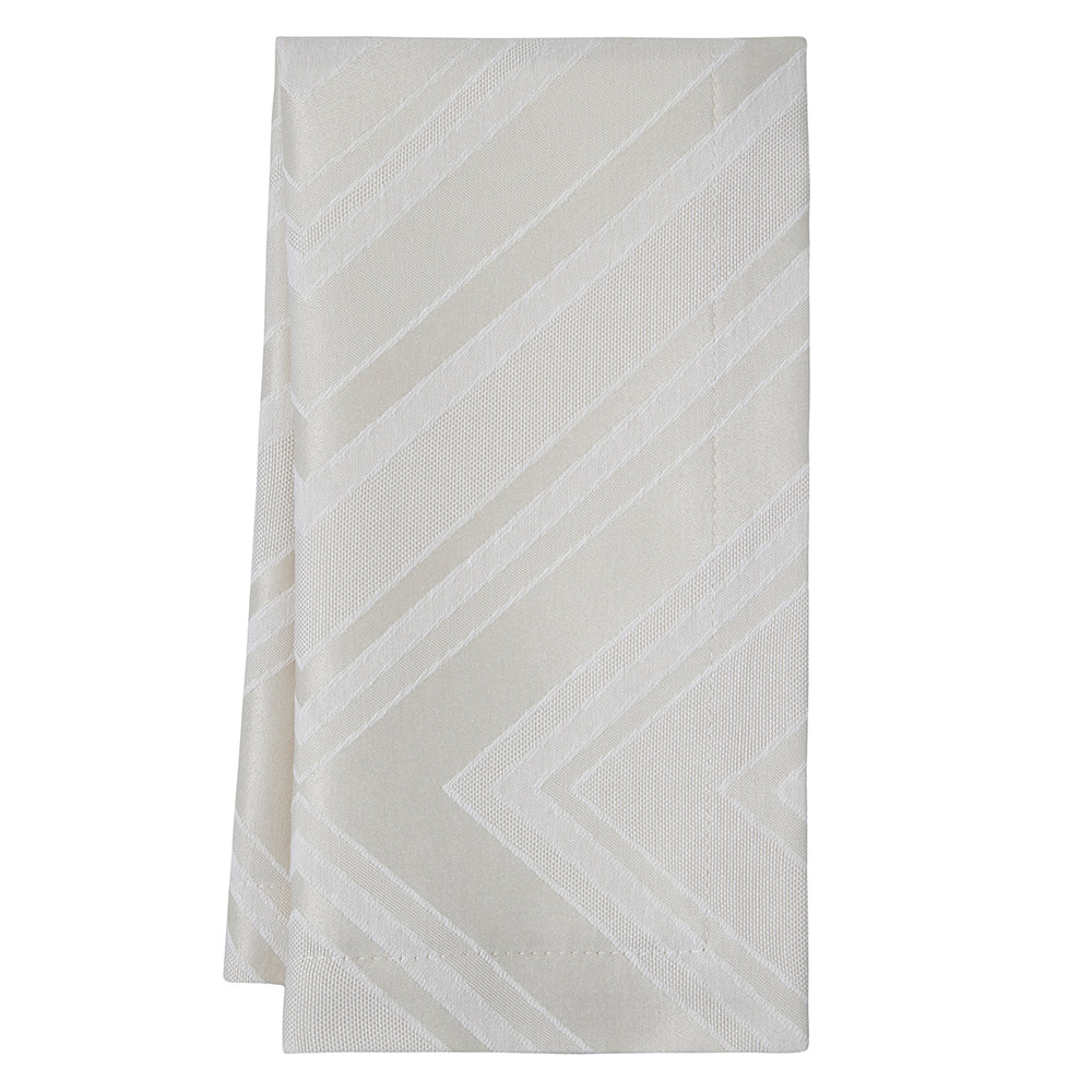 Brussels Napkins Taupe Pattern S/4