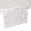 Mode Living Cannes Runner Silver and White - Metallic Linens