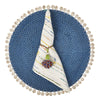 Bamboo and Shell Placemat- Mode Living Capiz Placemat Blue