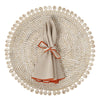 Bamboo and Shell Placemat- Mode Living Capiz Placemat Bone