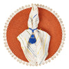 Bamboo and Shell Placemat- Mode Living Capiz Placemat Orange