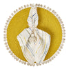 Bamboo and Shell Placemat- Mode Living Capiz Placemat Yellow