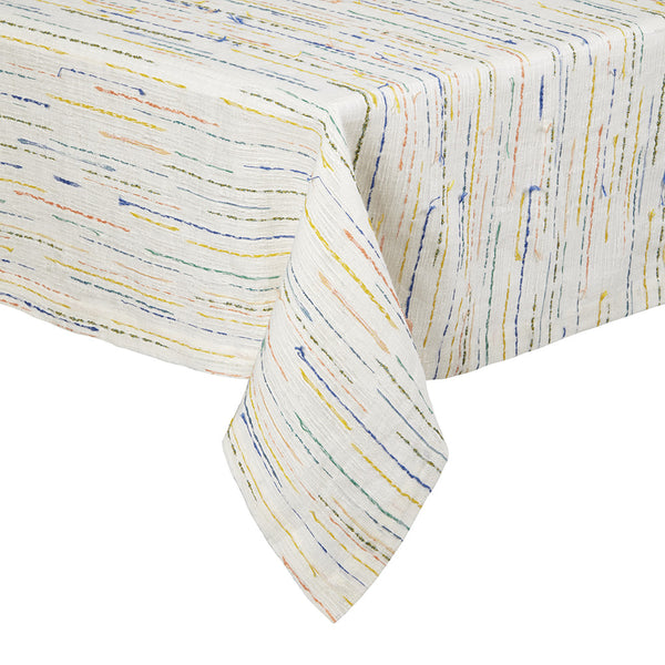 Capri Tablecloth: Colorful tablecloth, linen, ideal for summer dinner, modern tablescape