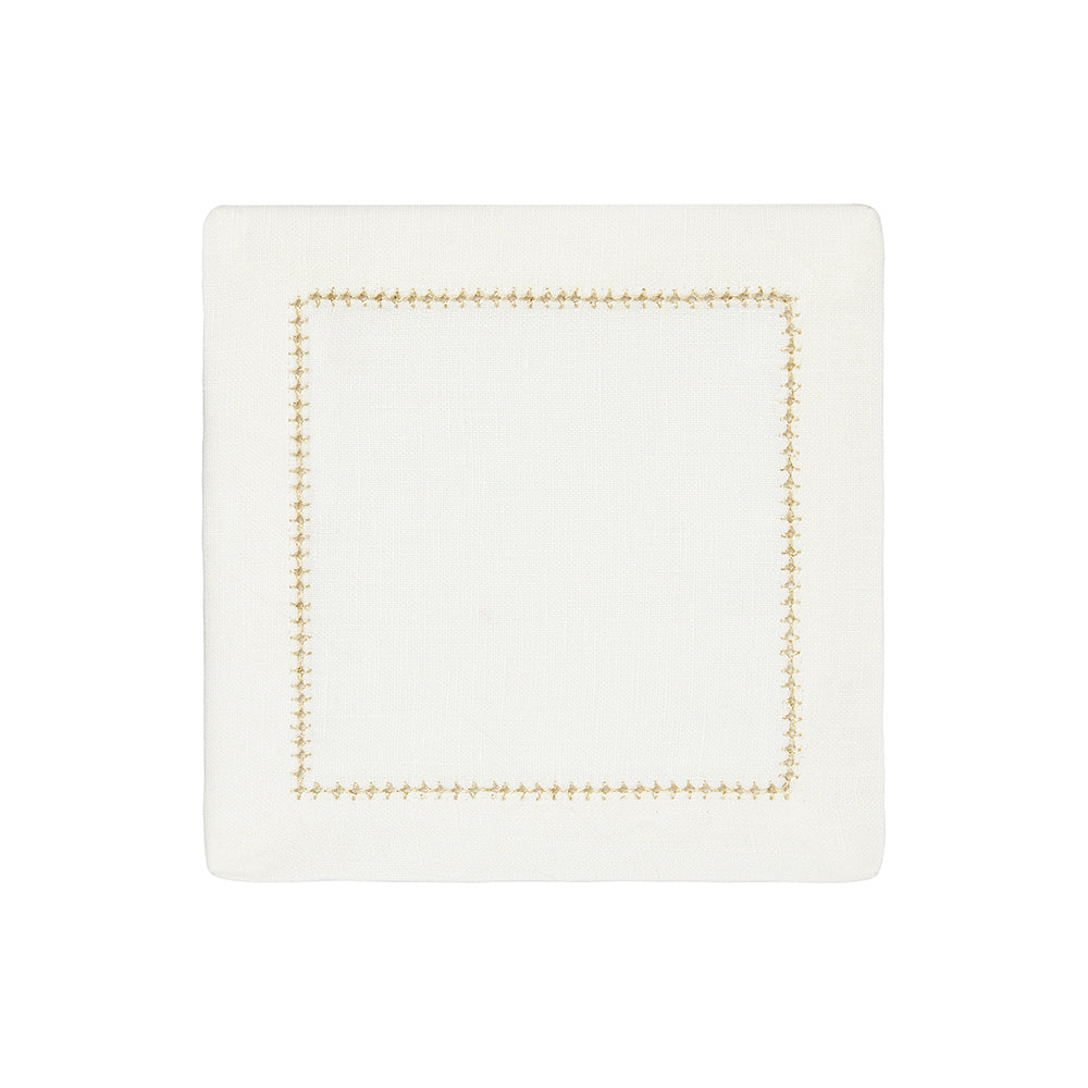 Dolce Metallic Cocktail Napkins, S/4