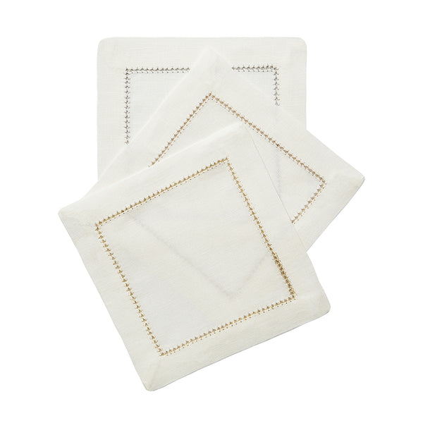 Dolce Metallic Cocktail Napkins