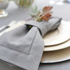 Mode Living easycare Lima napkins gray hemstitched