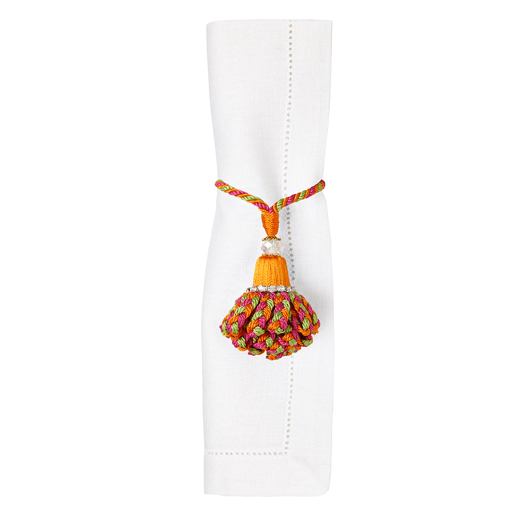 Marbella Napkin Rings Orange Fiesta Value Set