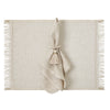 Mode Living Metallic Placemat with Fringes -Venice