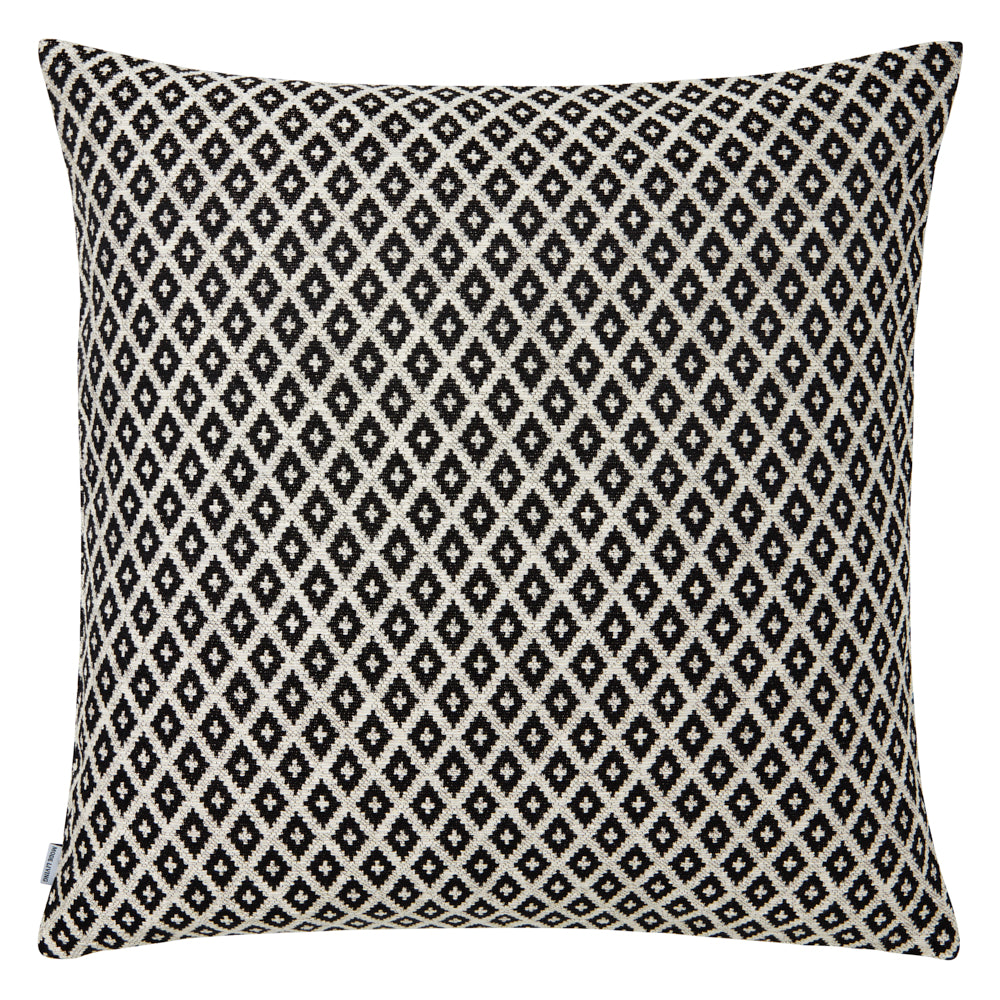 Black diamond and gold decorative pillow
