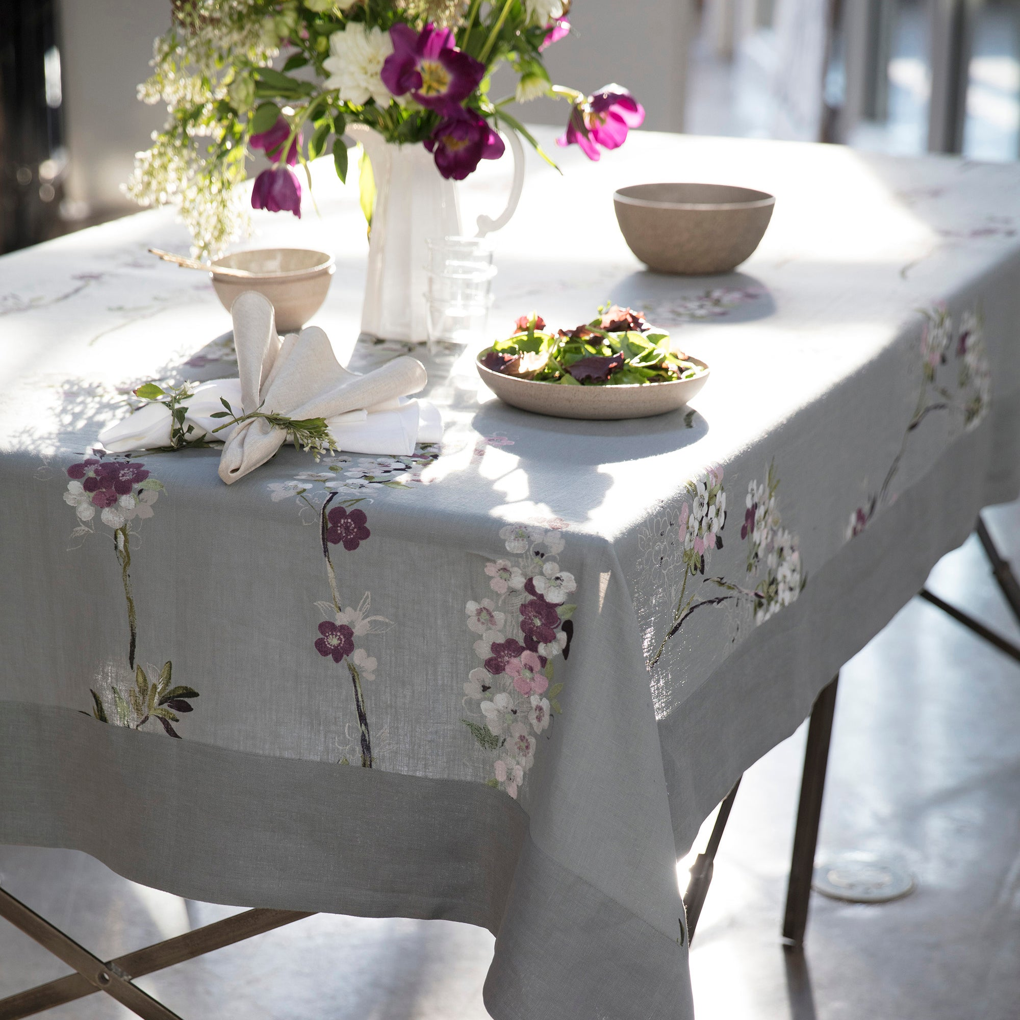 tablecloth tablecloths hibiscus in cloths table champagne round sheer