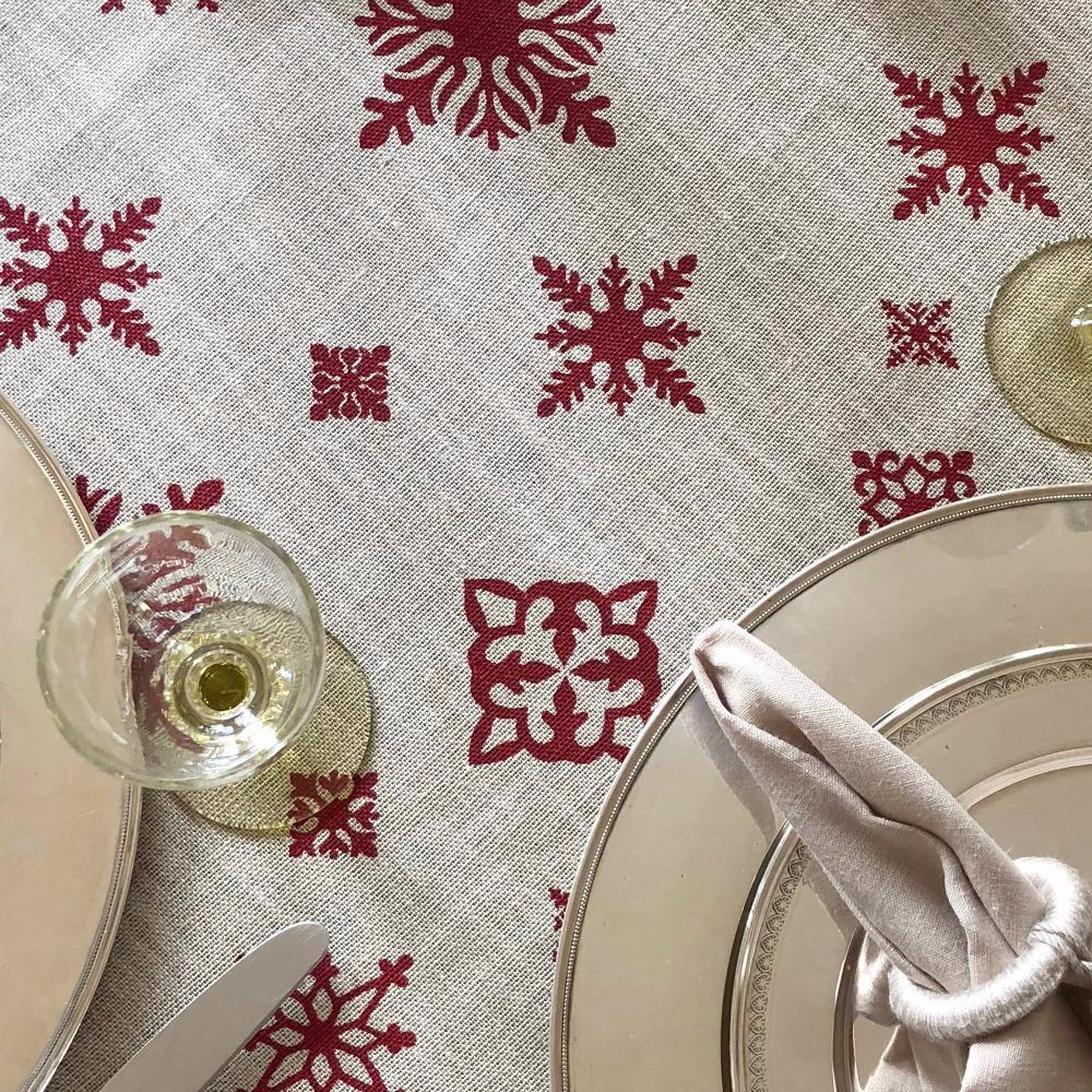 Mode Living Holiday tablecloth beige with festive patterns