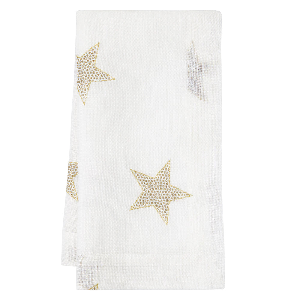 Mode Living Starry Night Napkins - Gold Metallic Affordable Luxury Linens