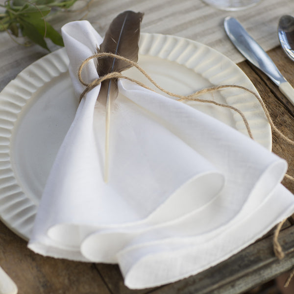 Pure Linen Napkins Round, S/4 - Mode Living Tablecloths