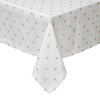 Gold Polka Dot Tablecloth- Mode Living Vogue Metallic Designer Table Linen