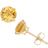 Gioelli 10k Yellow Gold 1 3-4ct TGW 6-mm Round Birthstone Stud Earrings