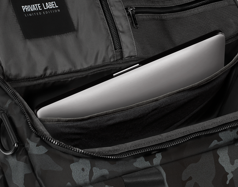BLACK / GREY CAMO - DUFFLE