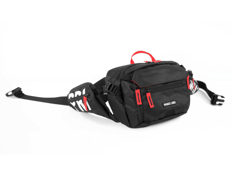 *BLACK / RED - WAIST/SLING BAG (SHIPS OUT JUNE 10TH)